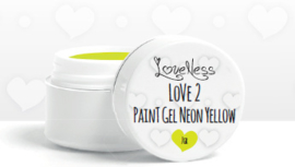 Paint Gel by #LVS Neon Yellow 7ml. Oude Verpakking
