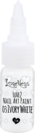 Nail Art Paint 03 Ivory White 15ml