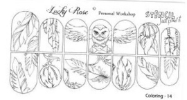 Owl Stencil 14 by #LVS