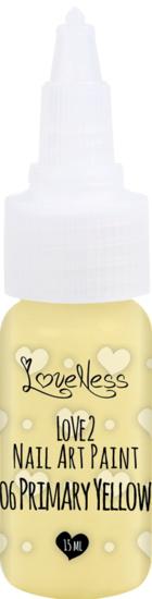 Nail Art Paint 06 Primary Yellow 15ml