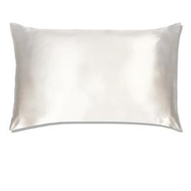 Peace silk zijden kussensloop - wit  | katoenen achterkant