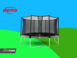 BERG Favorit Black 3.80 m + Safety Net Comfort