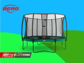 BERG Elite Green  3.80 m + Safety Net DeLuxe