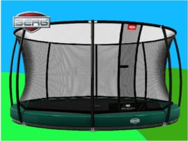BERG Elite Inground Groen 3.80 m + Safety Net Deluxe