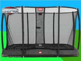 BERG Inground Ultim Champion Grijs  3.30 x 2.20 m +Safety Net Deluxe