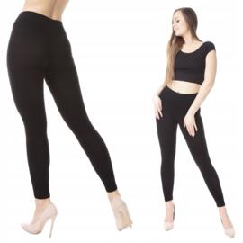 Legging met brede tailleband ZWART
