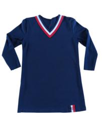 Meisjes shirtjurk V-hals 2 kleuren