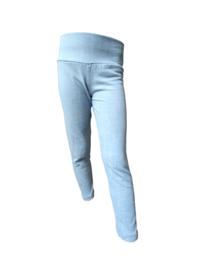 Meisjes legging als skinny jeans light blue