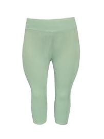 Legging brede tailleband driekwart pastel groen