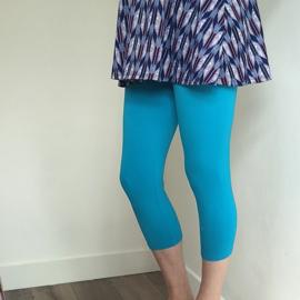 Zwangerschapslegging capri turquoise