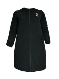 Lange gebreide sweater jurk zwart