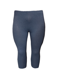 Legging driekwart gemêleerd donkerblauw