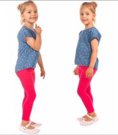 Fuchsia roze meisjes legging Bensini