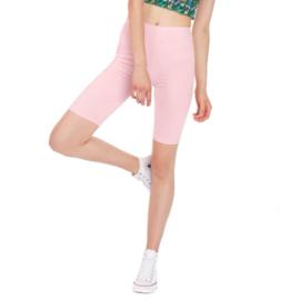 Licht roze/poeder roze korte legging grote maat