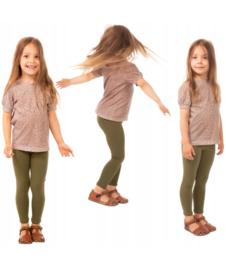 Olijfgroene meisjes legging ®Bensini