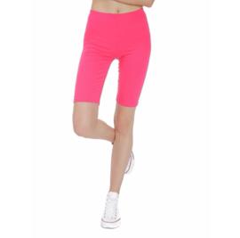 Korte fuchsia roze legging grote maat