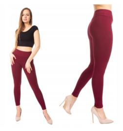 Wijnrode legging met brede tailleband