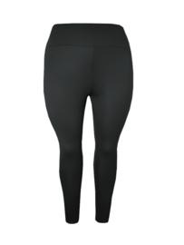 Legging brede tailleband viscose zwart