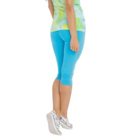 Turquoise blauwe Capri legging