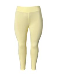 Legging brede tailleband licht geel