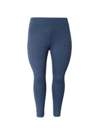 Legging  brede tailleband melange donkerblauw