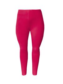 Legging smalle tailleband fuchsia roze maat 42 en 52