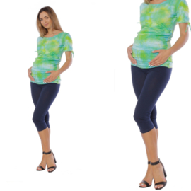 Donkerblauwe driekwart zwangerschapslegging