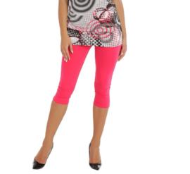 Fuchsia roze driekwart legging