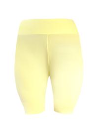 Wielrenlegging met brede tailleband |viscose | licht geel