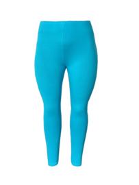 Legging smalle tailleband turquoise blauw