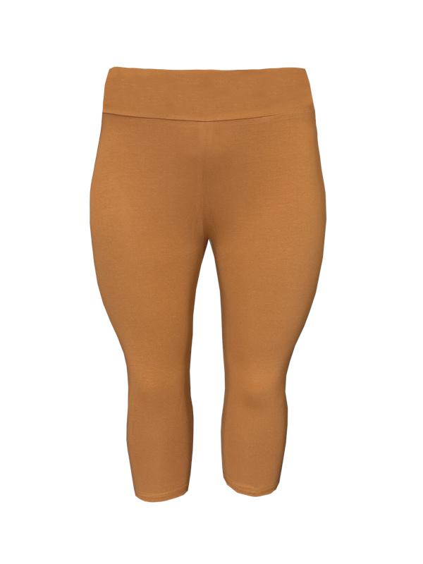 Legging brede tailleband driekwart bruin