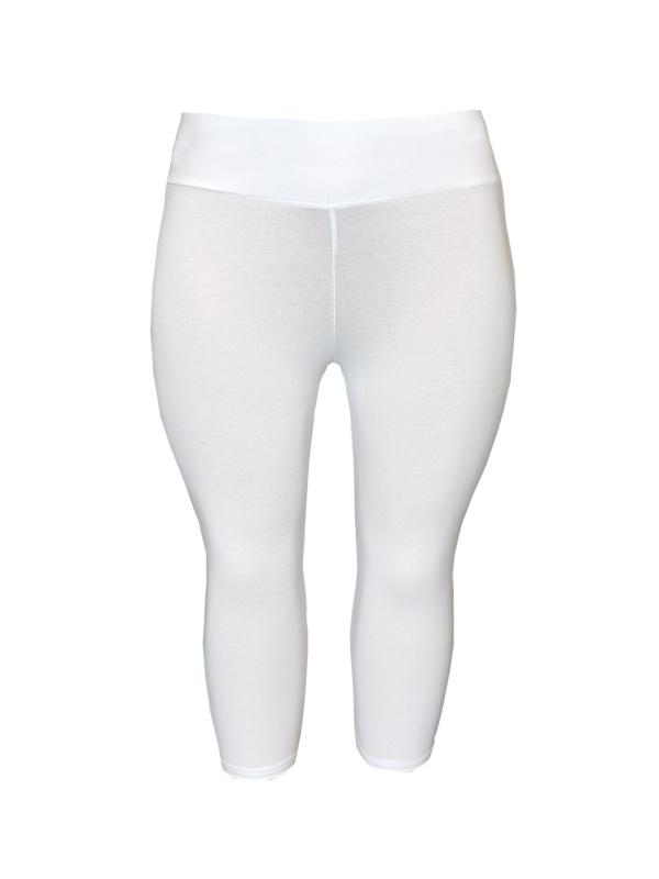 Legging  brede tailleband driekwart wit
