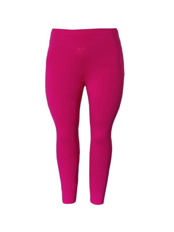 Legging  brede tailleband fuchsia roze
