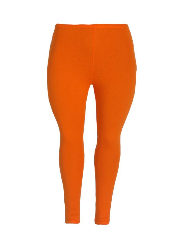 Legging smalle tailleband oranje