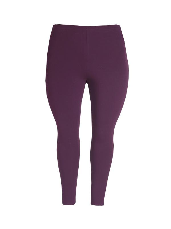 Legging smalle tailleband pruim paars