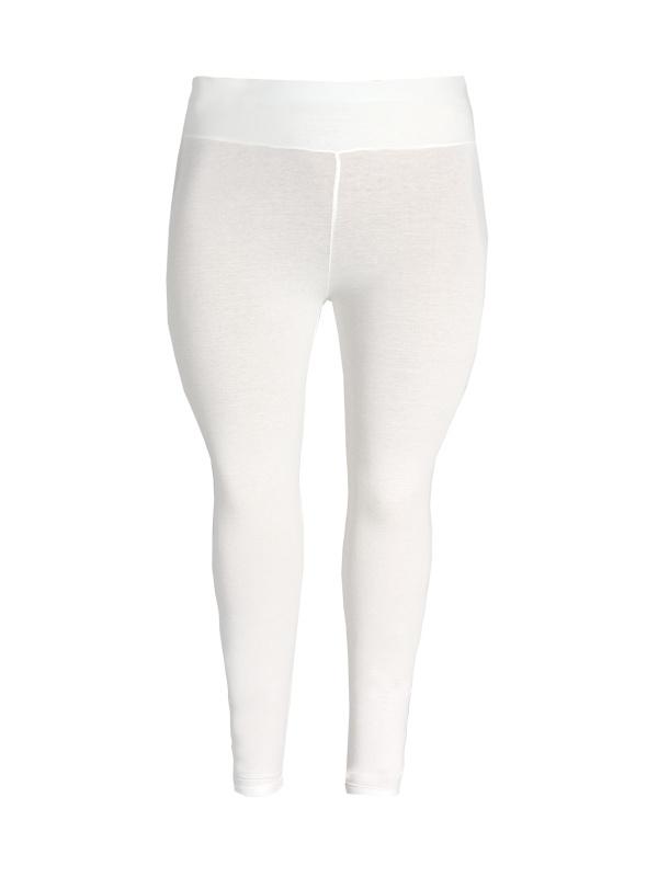 Legging brede tailleband ecru wit