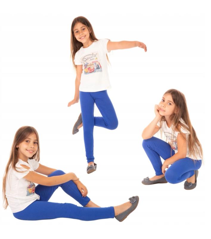 Kobaltblauwe meisjes legging ®Bensini
