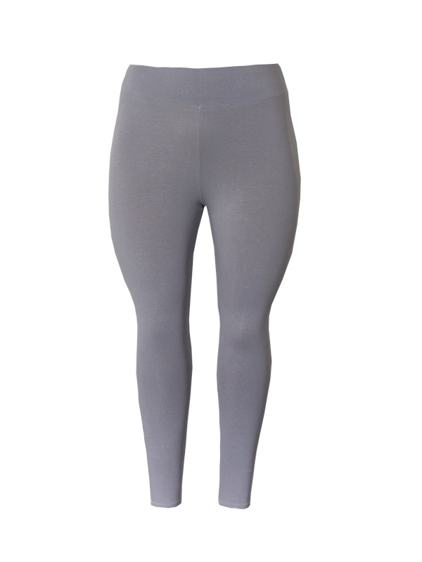 Legging  brede tailleband staal grijs