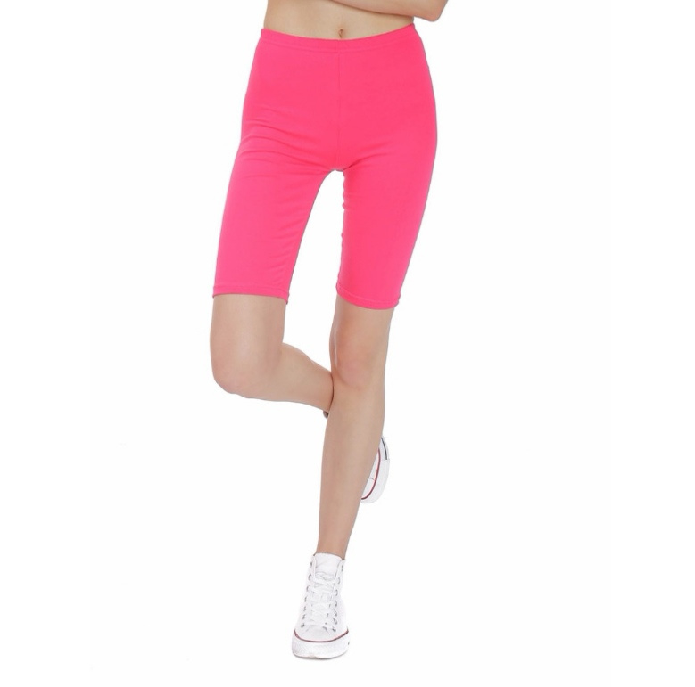 Korte fuchsia roze legging