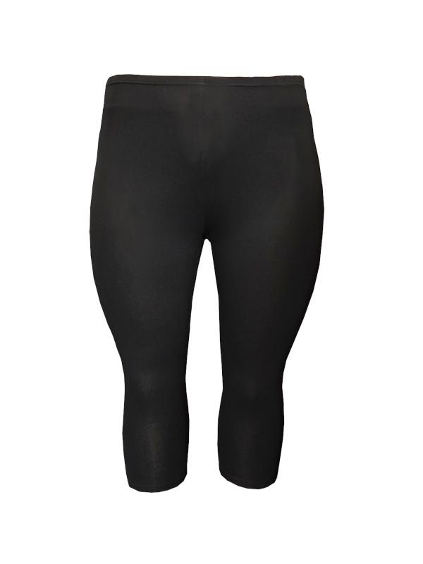 Legging driekwart smalle tailleband zwart