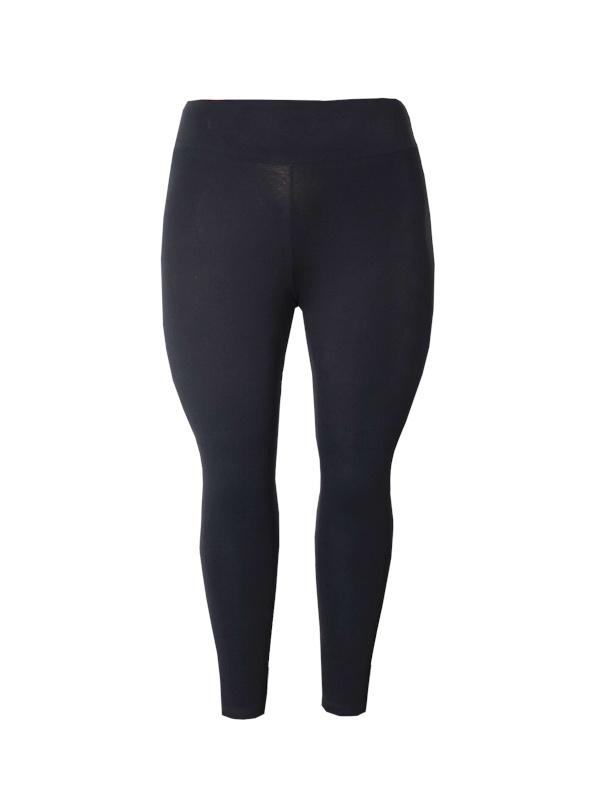 Legging brede tailleband zwart