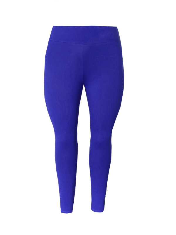 Legging brede tailleband kobaltblauw