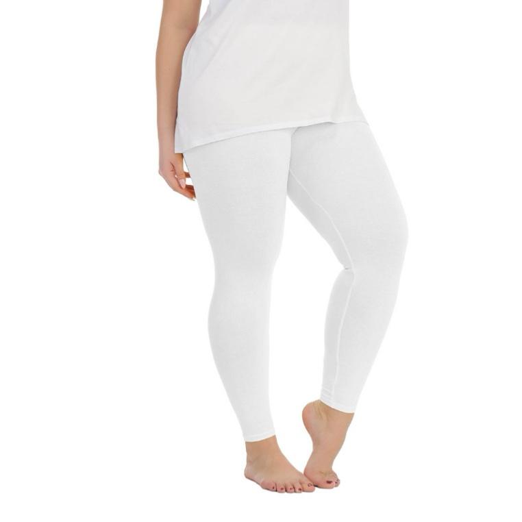 Legging smalle tailleband wit maat 36, 38 en 40