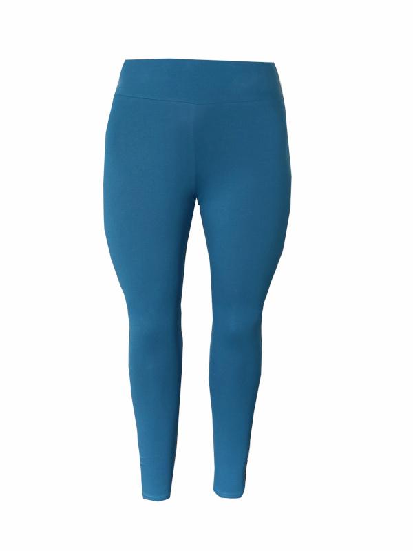 Legging brede tailleband denim blauw