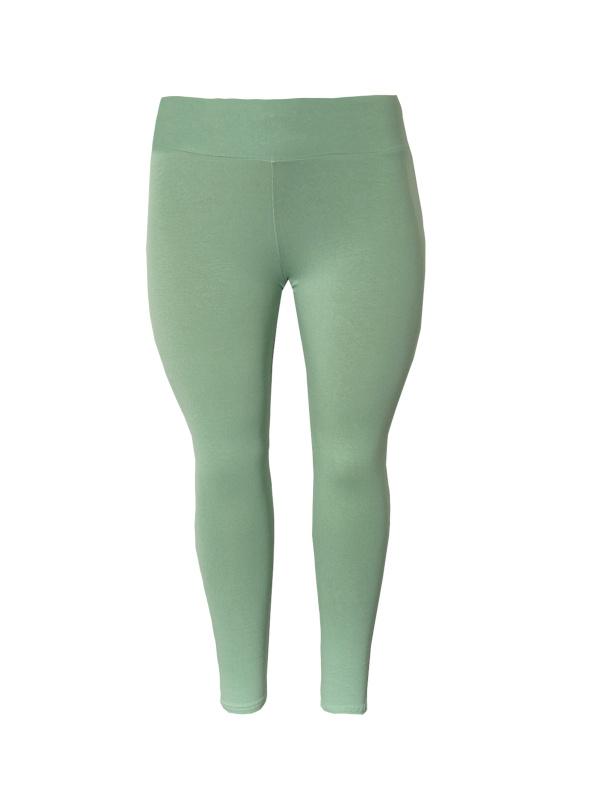 Legging brede tailleband pastel groen