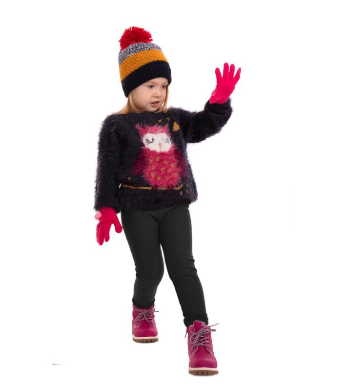 Zwarte warme meisjes legging