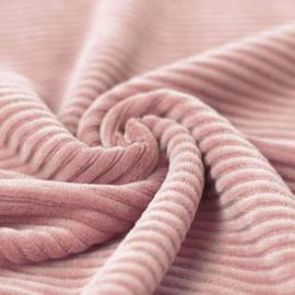 Rib flared roze