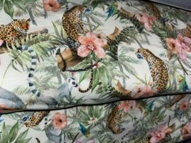 Tricot panter en bloemen
