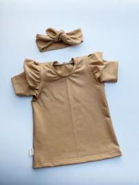 Ruffel shirtje Camel