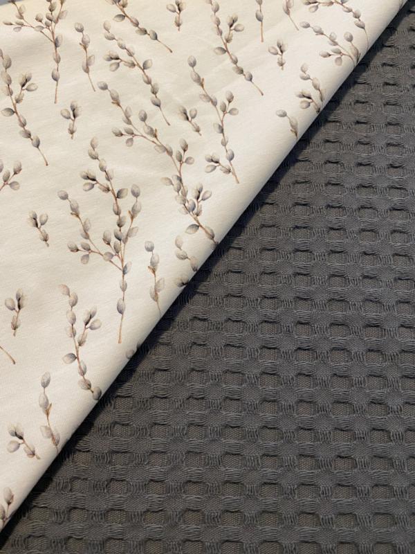 Wieg deken katoen plant grijs